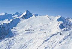 Skigebiet am Kitzsteinhorn in Kaprun