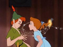 Fotograma de la versión de Peter Pan que hizo Disney en 1053.