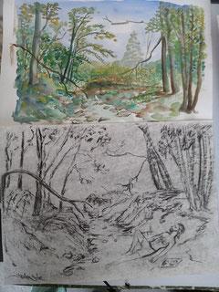 """""""Dans le lit de la rivière"""" - José Agüero"""
