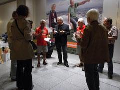 Großer Empfang für die Extrem-Radler am Flughafen Echterdingen