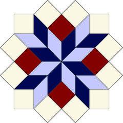 English Paper Piecing Stern Star