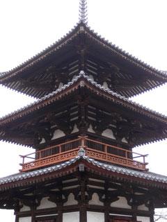 法起寺 最古の三重塔