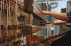 ambachtelijk geweven handwoven made in Amsterdam
