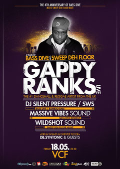 Bass Dive meets Sweep Deh Floor Night - Gappy Ranks