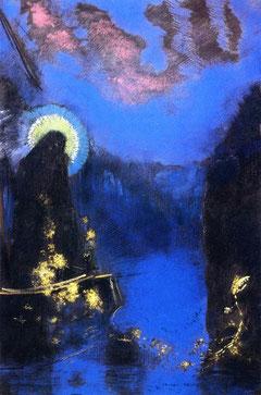 Vierge nimbée, Odilon Redon 1898