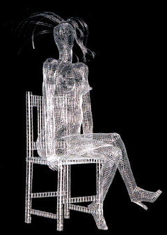 Ruby. 2000. Wire mesh. 150 x 100 x 70cm. Private Collection. © Charles Rocco