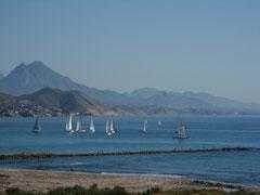 Voiliers sur la baie d'El Campello