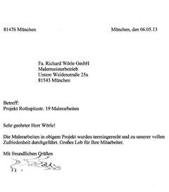Referenz - Woerle - München