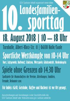 10. Landessporttag des GSV Sachsen-Anhalt