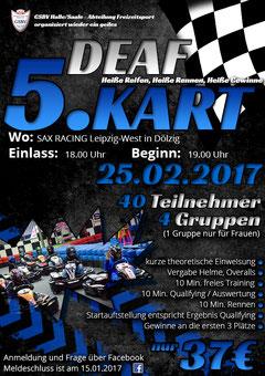 Plakat - 5. DEAF KART CUP