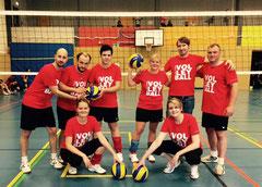 Mixedteam GSBV Halle mit neuen Sportshirts.