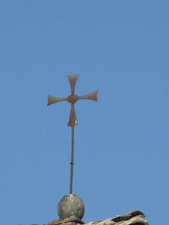 La croce templare sul campanile