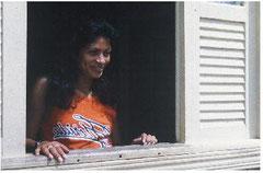 シャプリにて シコ・メンデスの妻イルザマールさん (1989年Photo by Nishioka)