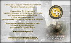 Fotoricostruzione al Museo Ferroviario di Trieste Campo Marzio