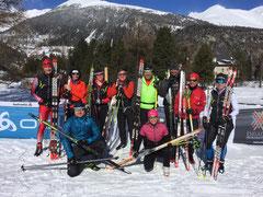 Gruppenbild bergnatur PUR Team im Engadin