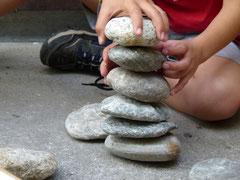 Das Bauen eines Steinmandli brauchte viel Geschick