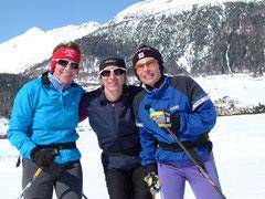 Frauen-Power auf den Langlaufski im Engadin