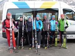 Das bergnatur PUR Langlaufteam im Engadin