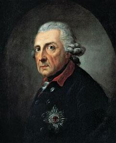 """Der """"Alte Fritz"""": Friedrich II. im Alter von 68 Jahren (Gemälde von Anton Graff, 1781)"""