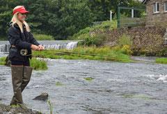 Lachsangeln in Irland