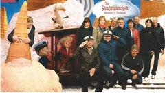 Potsdam Gruppe beim Sandmännchen im Filmpark Babelsberg