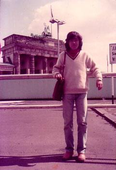 1982年、ブランデンブルグ門の前で!これは本当に私です!