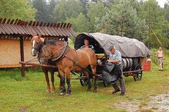 Wóz maziarski. Fot. Zuzanna Nasidlak