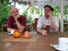 Spielpause: Rob und Andreas