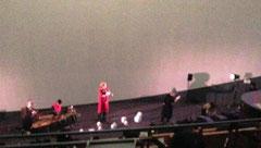 照明を落とした本番中の記録写真は撮影不可。こちらは開演前の様子。@相模原市立博物館プラネタリウム