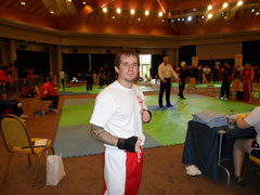 Richie Wooton preparing to fight
