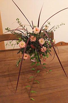ルーティーブーケ、根付きの植物、贈答、バラ、アレンジメント、記念日