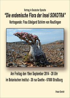 affiche de la conférence (photo famille Schirm)