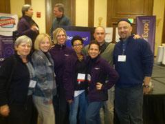 Io e Ted con Karen Pryor, Theresa McKeon e tagteachers da tutto il mondo