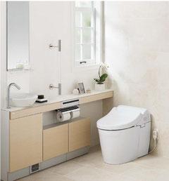 多機能なトイレ (TOTOのカタログから)