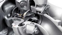 Sección de un turbo