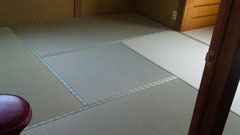 4畳半の敷き方をまわり敷きに替えました