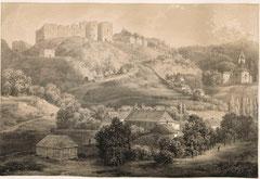 Верхній замок і нижній палац. (XVIII ст.).