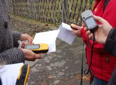 GPS Geräte mit Test-Laufzettel
