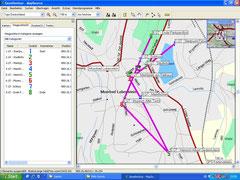 Eintragen der Koordinaten in die GPS Software