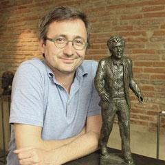 Sculpteur Langloÿs, Buste, Bustes, Création buste d'après photos, Bronze, Claude NOUGARO