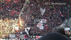 Eintracht Fans in der Coface Arena