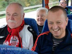 Optimistisch auf der Fahrt zum Spiel gegen Borussia Mönchengladbach