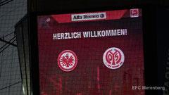 Begrüßung auf dem Stadionürfel beim Heimspiel der Eintracht gegen Mainz 05 am 23.09.2014