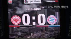Endstand 0:0 gegen Bayern München