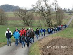 Die Teilnehmer der EFC-Winterwanderung am 18.01.2014