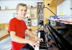 In seiner Freizeit spielt Lucas Bienert gern Klavier und nimmt einmal die Woche Unterricht. (haz)