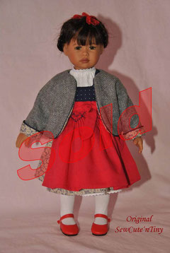 90.00 USD: Dirndl dress with blouse, smocked apron and jacket