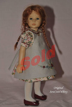 35.00 USD: Dress and pinafore with embroidery,