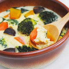 野菜たっぷり豆乳茶碗蒸し
