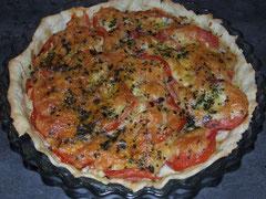 tomate, tarte, recette dieteticienne, dieteticienne, diététique, nutritionniste
